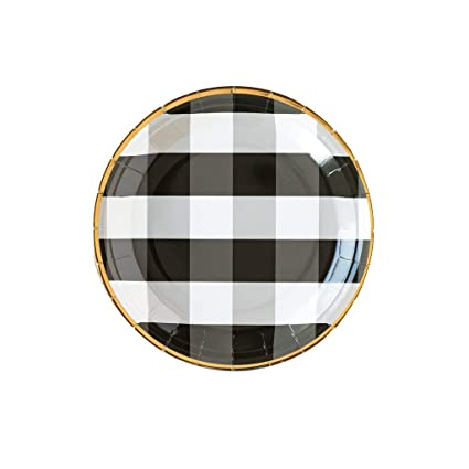 Rustic Wedding Decorations Paper Plates Dinner Plates Buffalo Plaid Modern  Farmhouse Decor Black Party Decorations Disposable Plates 9