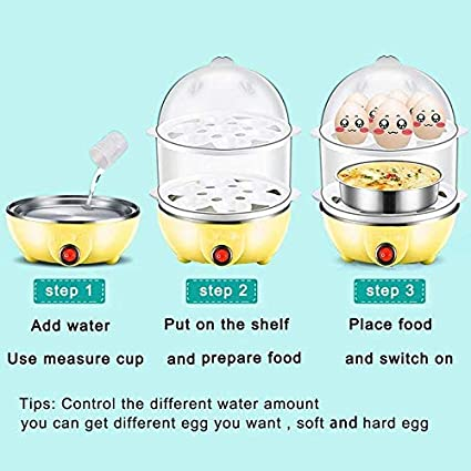 Buy Piyuda Multi-Function Electric 2 Layer Egg Boiler Cooker ...