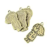 10 Pieces Jewelry Making Charms 673AP Raincoat Girl Findings Antique Brass Retro DIY Vintage Supply Supplies Craft