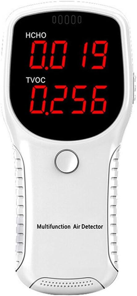 KKmoon Monitor de Calidad del Aire Formaldehido Detector HCHO TVOC de Di/óxido de Carbono Analizador