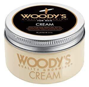 Woody's Flexible Styling Cream for Men, Styling Cream, 3.4 Ounce