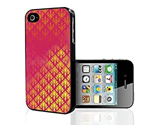 Gold and Pink Pattern Hard Snap on Phone Case (iPhone 5/5s)
