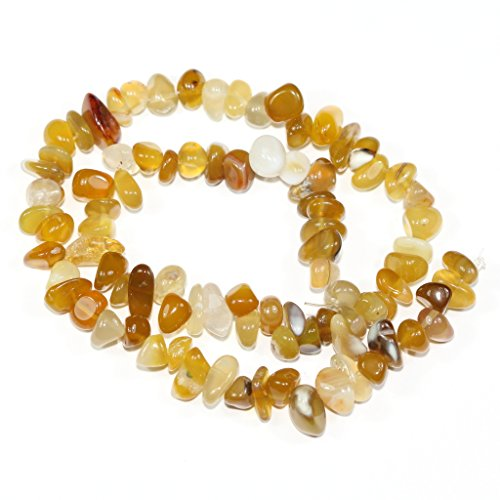 AAA Natural Yellow Agate Gemstones Smooth Pebble Beads Center Drilled Free-form Loose Beads ~10x8mm beads ( ~16