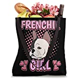 Womens French Bulldog Girl French Bulldog Tote Bag
