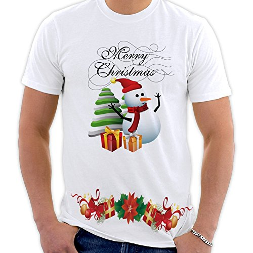 PicOnTshirt Winter Christmas T-shirts Collection Design 07 for Men Size S (Modells Gift Card compare prices)