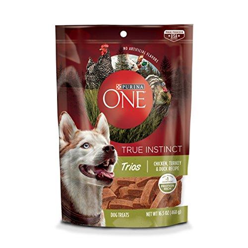 Purina ONE Made in USA Facilities Dog Treats; True Instinct Trios Chicken, Turkey & Duck Recipe - 16.5 oz. Pouch