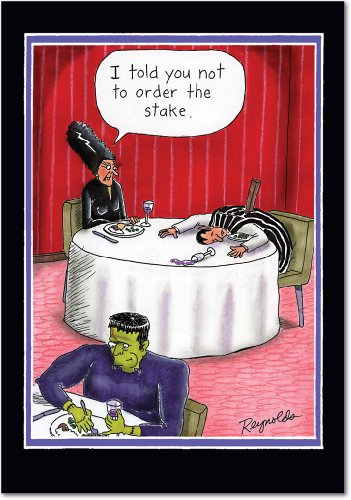 (3011 Order the Stake Unique Funny Halloween Card with)