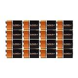 9 Volt Duracell Alkaline Batteries Coppertop MN1604 (Pack of 16 (1 battery each))
