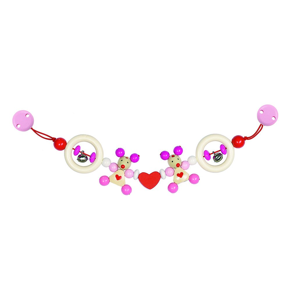 Heimess ''Mouse Stroller Chain, Pink
