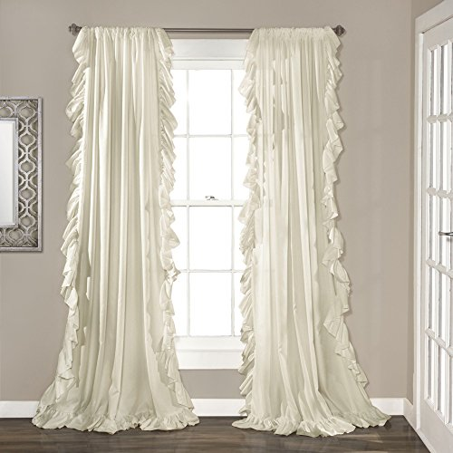 Lush Decor Reyna Window Curtain Panel Pair 84 X 54 Ivory
