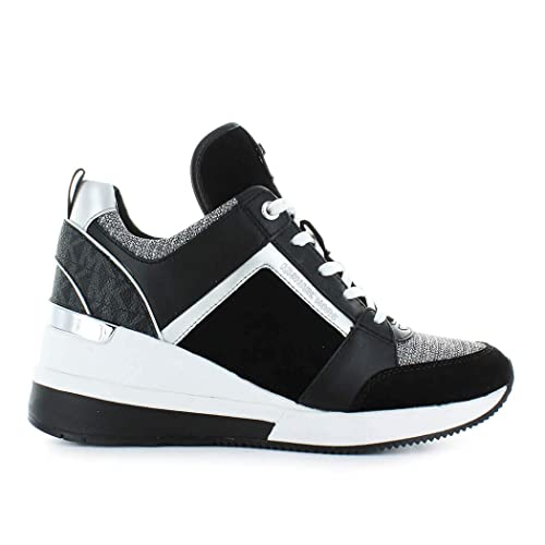 Zapatos de Mujer Zapatilla Georgie Negro Blanco Michael Kors Otoño Invierno 2019: Amazon.es: Zapatos y complementos