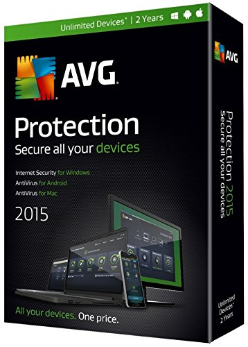 AVG Protection 2015, For PC/Mac/Android, 2-Year Subscription, Traditional Disc