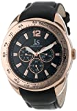 Joshua & Sons Men's JS-45-SS Multi-Function Tachymeter Leather Strap Watch