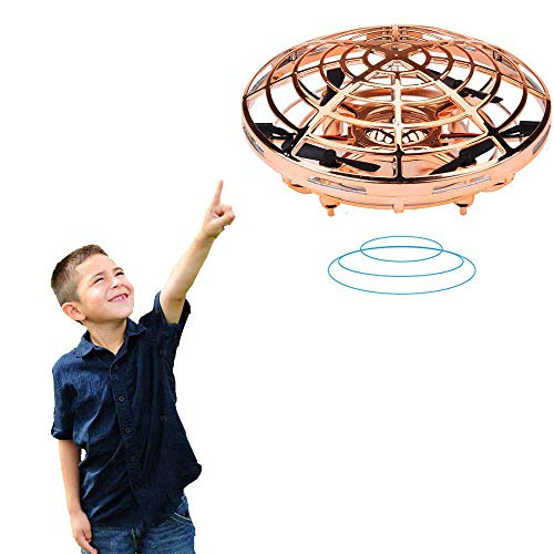 BIBIELF Kids and Boys Toys Hand Controlled Flying Ball Drones with LED Lights Flying Toys for Boys Girls and Kids 3 4 5 6 7 8 9 10