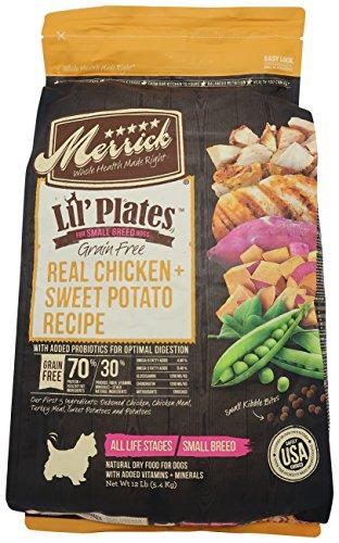 Merrick Lil Plates Grain Free Small Breed Recipe, 12-Pound, Chicken