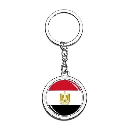 Hqiyaols Souvenir Egipto Bandera Nacional Llavero 3D Cristal ...