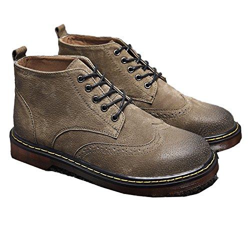 Rainstar Menns Vintage Martin Ankelstøvletter Chukka Boots Holdbar Snøring  Sko Kamel