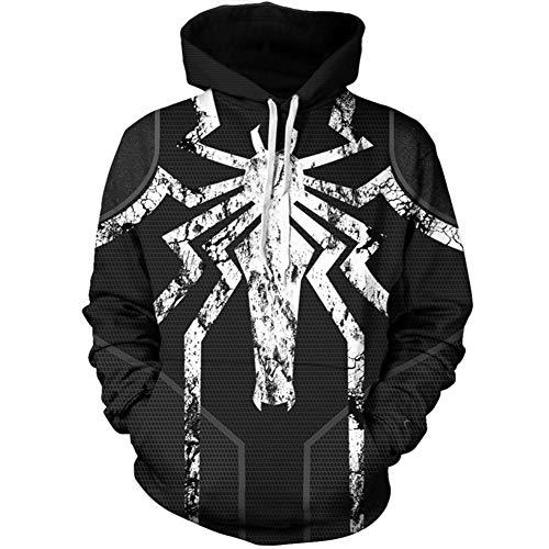 Venom Costume,Unisex 3D Printed Spiderman Venom Fashion Hoodies Sweatshirt -