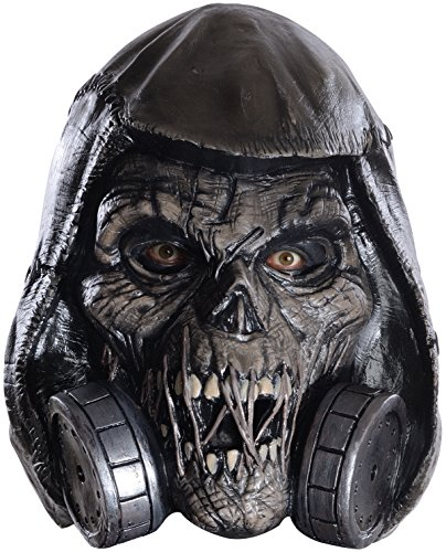 Deluxe Scarecrow Mask (Rubie's Costume Co Men's Arkham Knight Scarecrow Deluxe Latex Mask, Black, One Size)