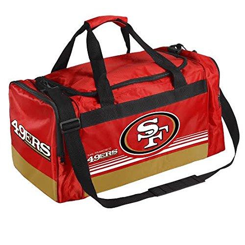 FOCO San Francisco 49ers Medium Striped Core Duffle Bag by FOCO