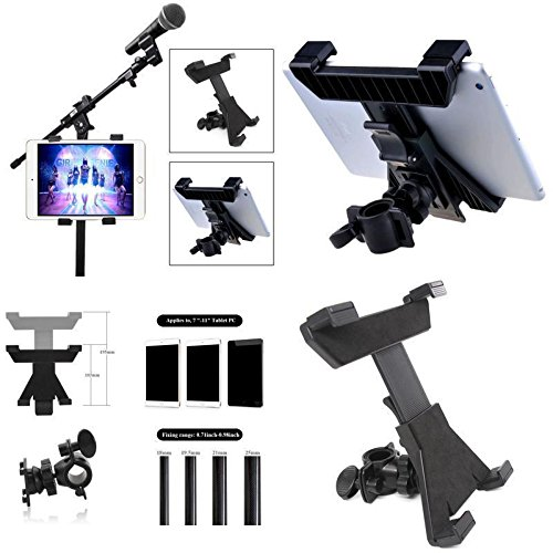 """Music Microphone Stand Holder Mount For 7-11"""" Tablet iPad Ai"""