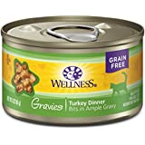 Wellness Complete Health Natural Grain Free Wet Canned Cat Food, Gravies Turkey Dinner, 3-Ounce Can (Pack of 12)