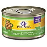 Wellness Complete Health Natural Grain Free Wet Canned Cat Food, Gravies Turkey Dinner, 3-Ounce Can (Pack Of 12) Review