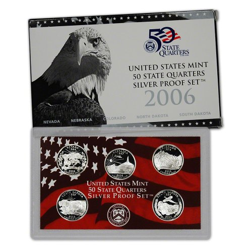 2006 S US Mint Quarters Silver Proof Set (Silver Quarter Proof)