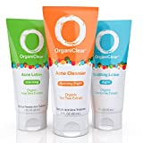 Best Acne Face Wash 1 Days - OrganiClear Acne Treatment Kit-30 Day Supply, Includes Morning Review