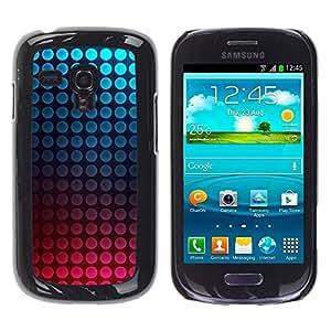 """Pulsar Snap-on Series Teléfono Carcasa Funda Case Caso para Samsung Galaxy S3 MINI ( NOT for regular S3 , Dot vibrantes del trullo Burbujas rosadas"""""""