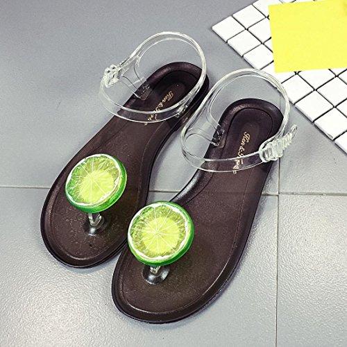 Elevin (tm) Femmes Été Mode Fruits Assiette Peeptoe Plat Flip Flop Plage Sandales Chaussures E