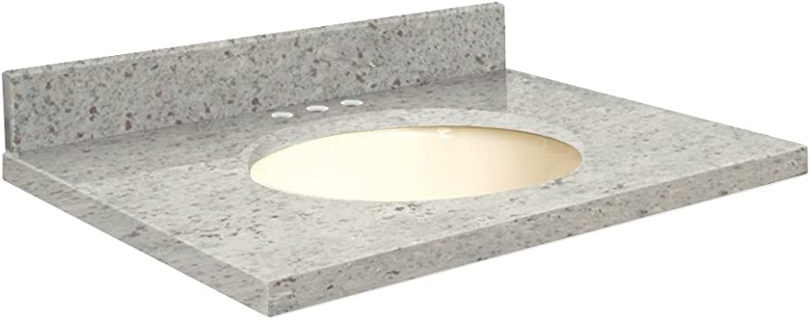 Transolid G3719 G2 A B 8 Granite 37 In X 19 In Bathroom Vanity Eased Edge 8 In Centerset Giallo Parfait Top Biscuit Bowl Amazon Com