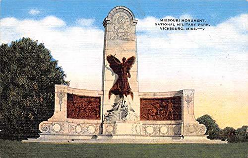 Civil War Post Card Old Vintage Antique Postcard Missouri Monument, National Military Park Vicksburg, Mississippi USA Unused
