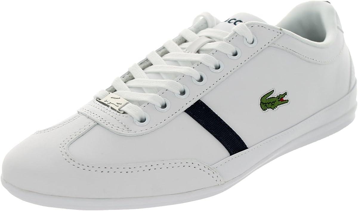 Lacoste Mens Misano Sport Mag Spm White//Dk Blu Casual Shoe 11.5 Men US