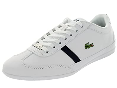 Best Buy Lacoste Men's Misano Sport Mag Spm Casual Shoes Cheap - White/Dk Blu