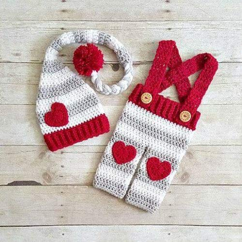 eb2945363 Amazon.com  Crochet Baby Valentine s Day Hat Beanie Stocking Cap ...