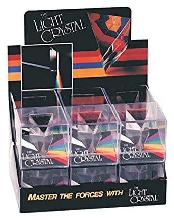 Constructive Playthings Light Crystal Prism, Rainbow Maker for Kids, Science Class, Ages 8+