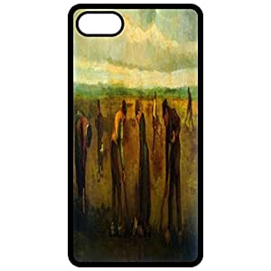 Farmers Painting By Vincent Van Gogh Black Apple Iphone 6 (4.7 Inch) Cell Phone Case - Cover