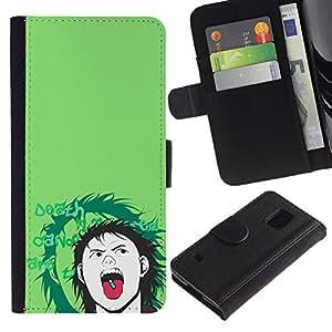 JackGot ( Popper Pill ) Samsung Galaxy S5 V SM-G900 la tarjeta de Crédito Slots PU Funda de cuero Monedero caso cubierta de piel