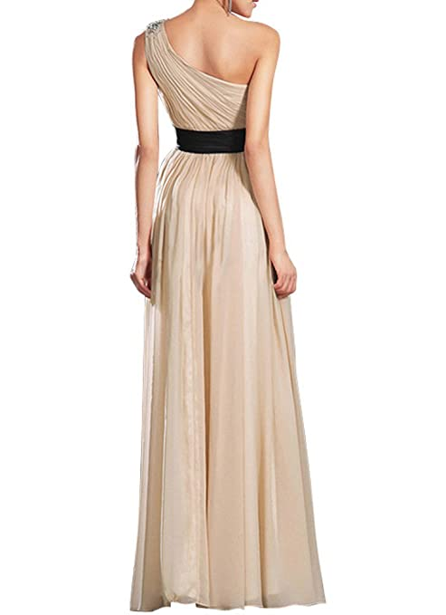 JY Womens Ruched One Shoulder Bridesmaid Dresses Prom Dresses Evening Dresses at Amazon Womens Clothing store: