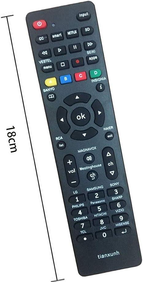 Control Remoto Universal de TV para Samsung, Vizio, LG, Sony ...