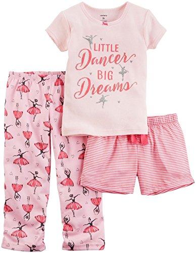 Carter's Baby Girls' 3 Pc Poly 333g067, Print, 24 (Summer Ballerina)