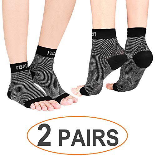refun Plantar Fasciitis Socks (2 Pairs), Compression Foot Sleeve Arch Support by refun