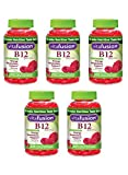 Vitafusion Energy B12 Gummy kfIqx Vitamins Very Raspberry 500mcg, 250 Count (Pack of 5) ZDqpi
