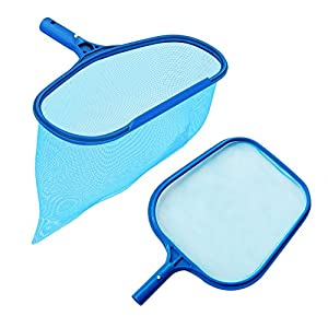 Heavy Duty Deep-Bag Pool Rake & Swimming Leaf Skimmer Net with Medium Fine Mesh,Fits Most Standard Pole for Cleaning Swimming Pools,Hot Tubs,Spas and Fountains
