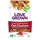 Love Grown Sweet Cranberry Pecan Oat Clusters, 12 oz. Bag, 6-Pack