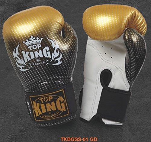 トップキング TOP KING キックボクシング グローブ スーパースター 金 10オンス B00NYXI64M