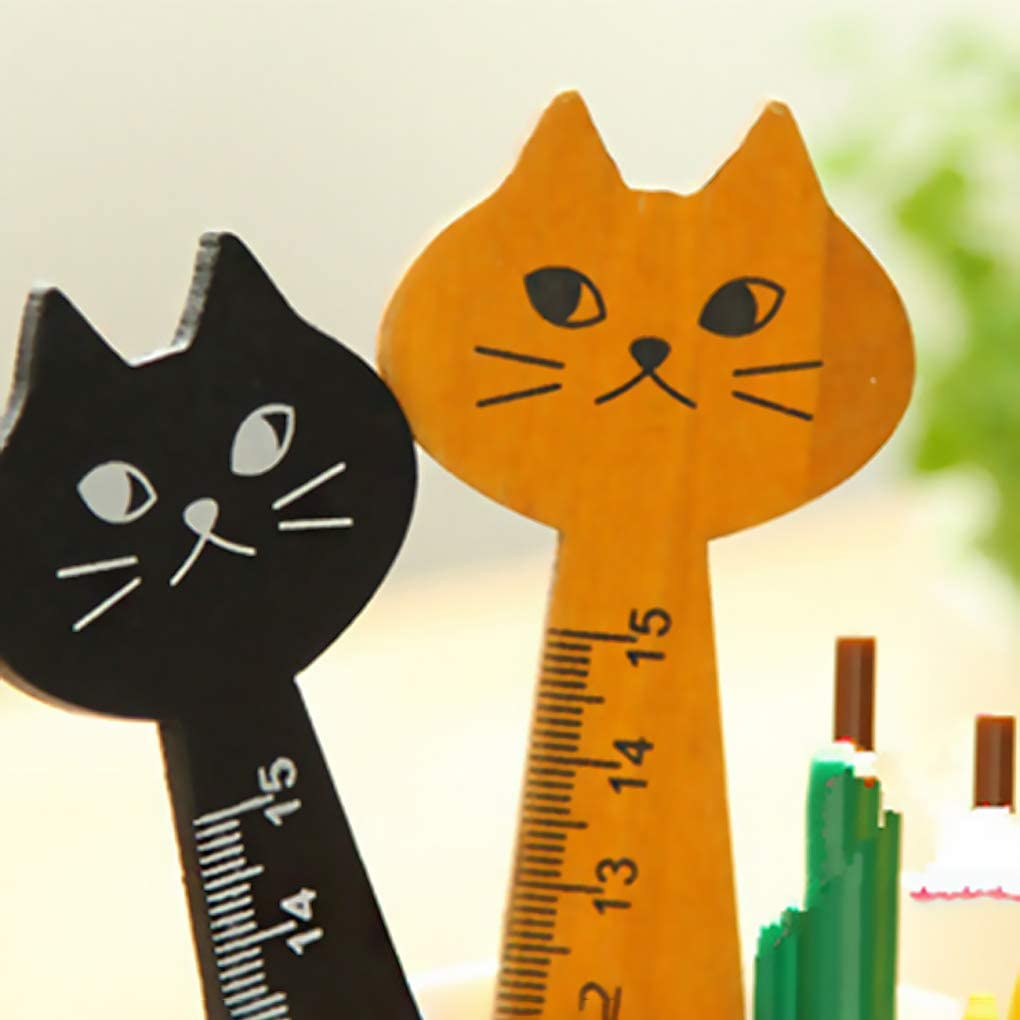 Portátil Madera Transparente Escala Dibujo, regla, dibujos animados de gatos de Bosquejo Reglas de accesorios para papel y schreibwaren kakiyi: Amazon.es: Oficina y papelería