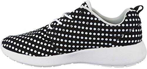 LA Gear - Zapatillas para mujer Blanco Schwarz Weiß