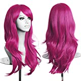 """23"""" Long Curly Full Wig with Oblique Fringe Review and Comparison"""